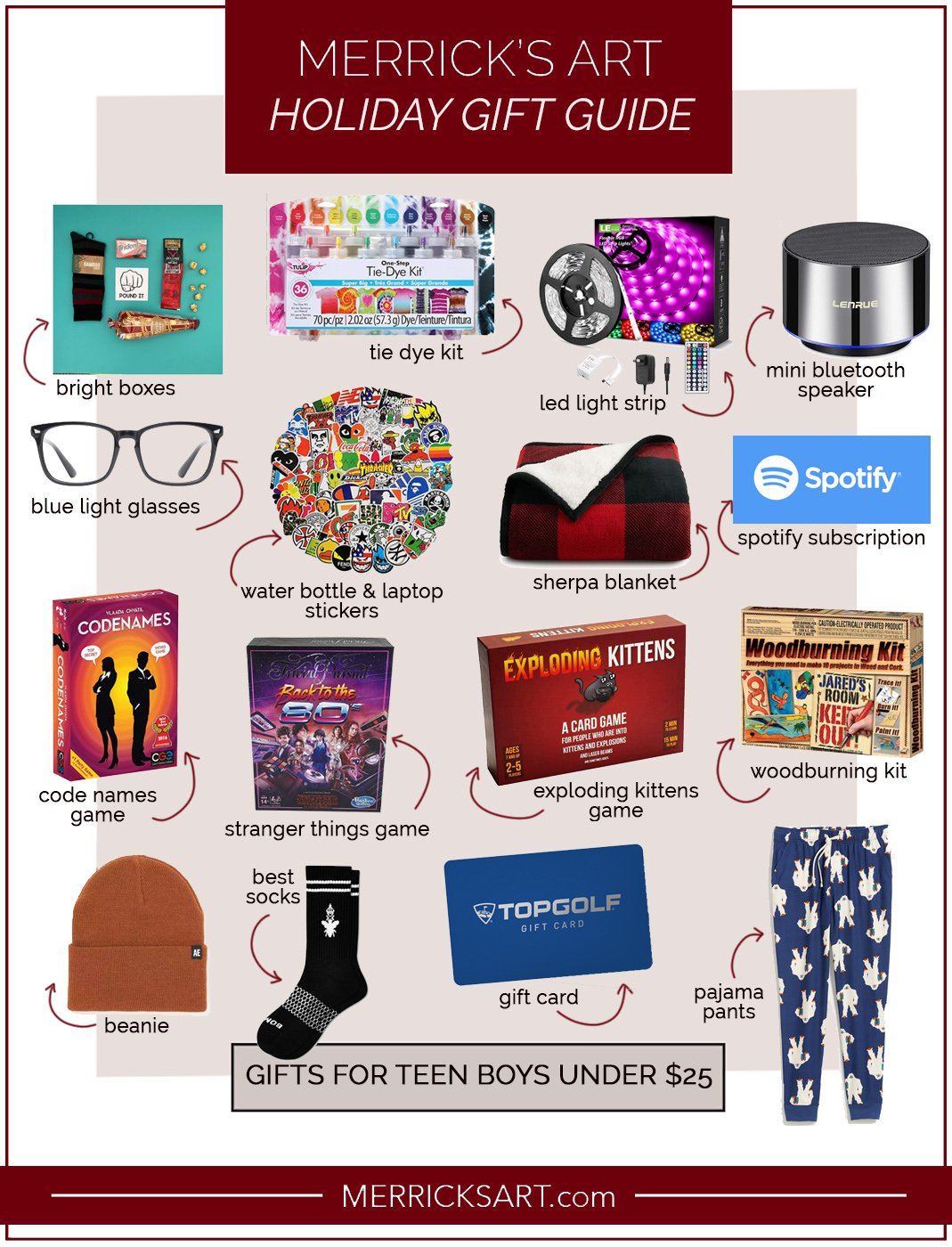 gifts for boys under $25