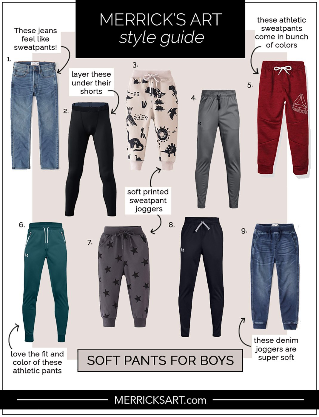 soft pants for boys