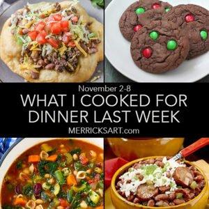 weekly menu November 8