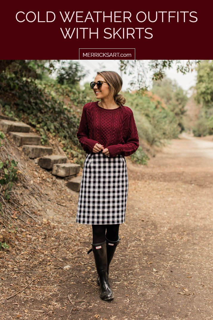 cold weather outfits with skirts