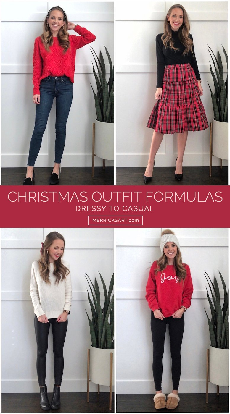 4 simple outfit ideas for Christmas