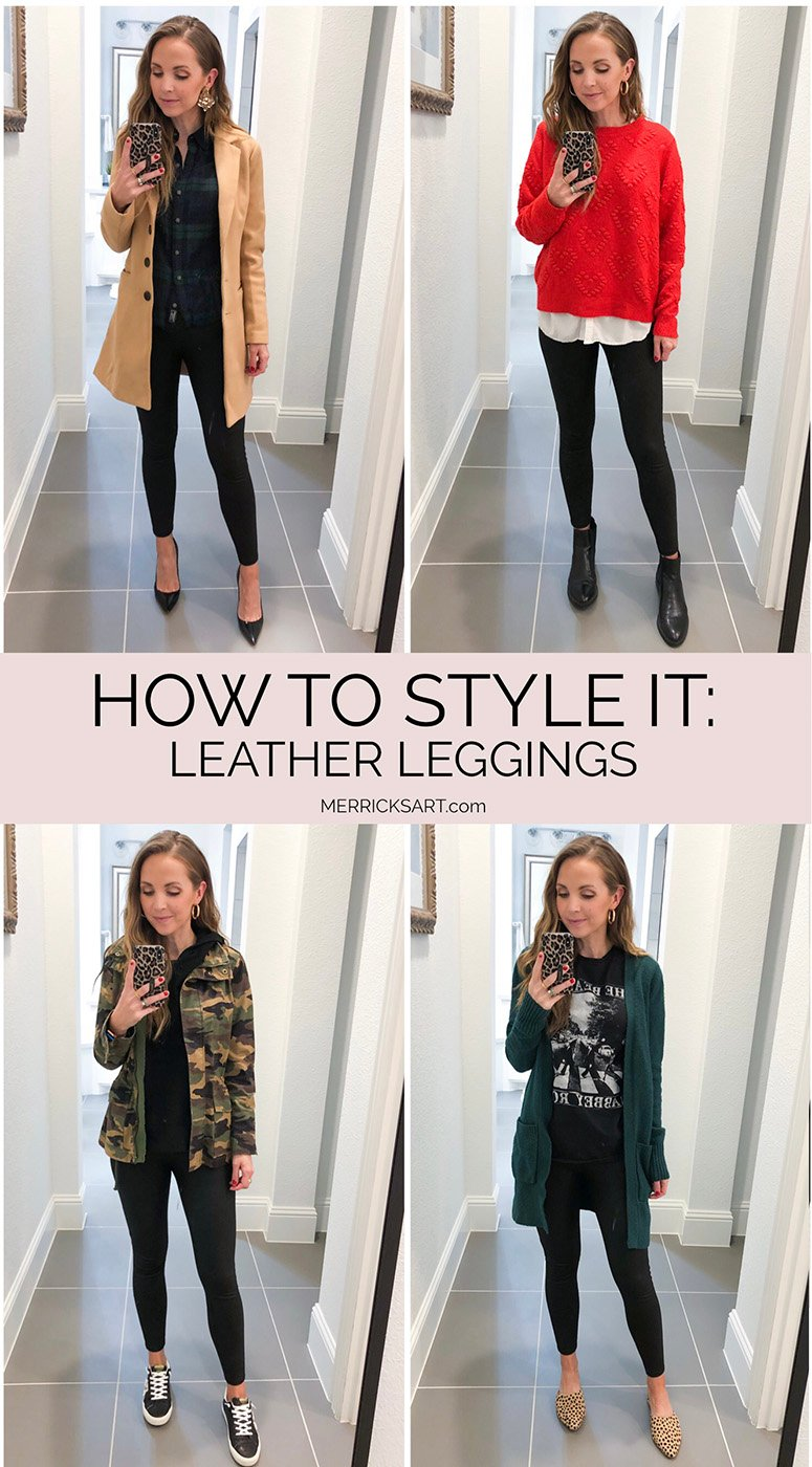 four ways to wear leather leggings