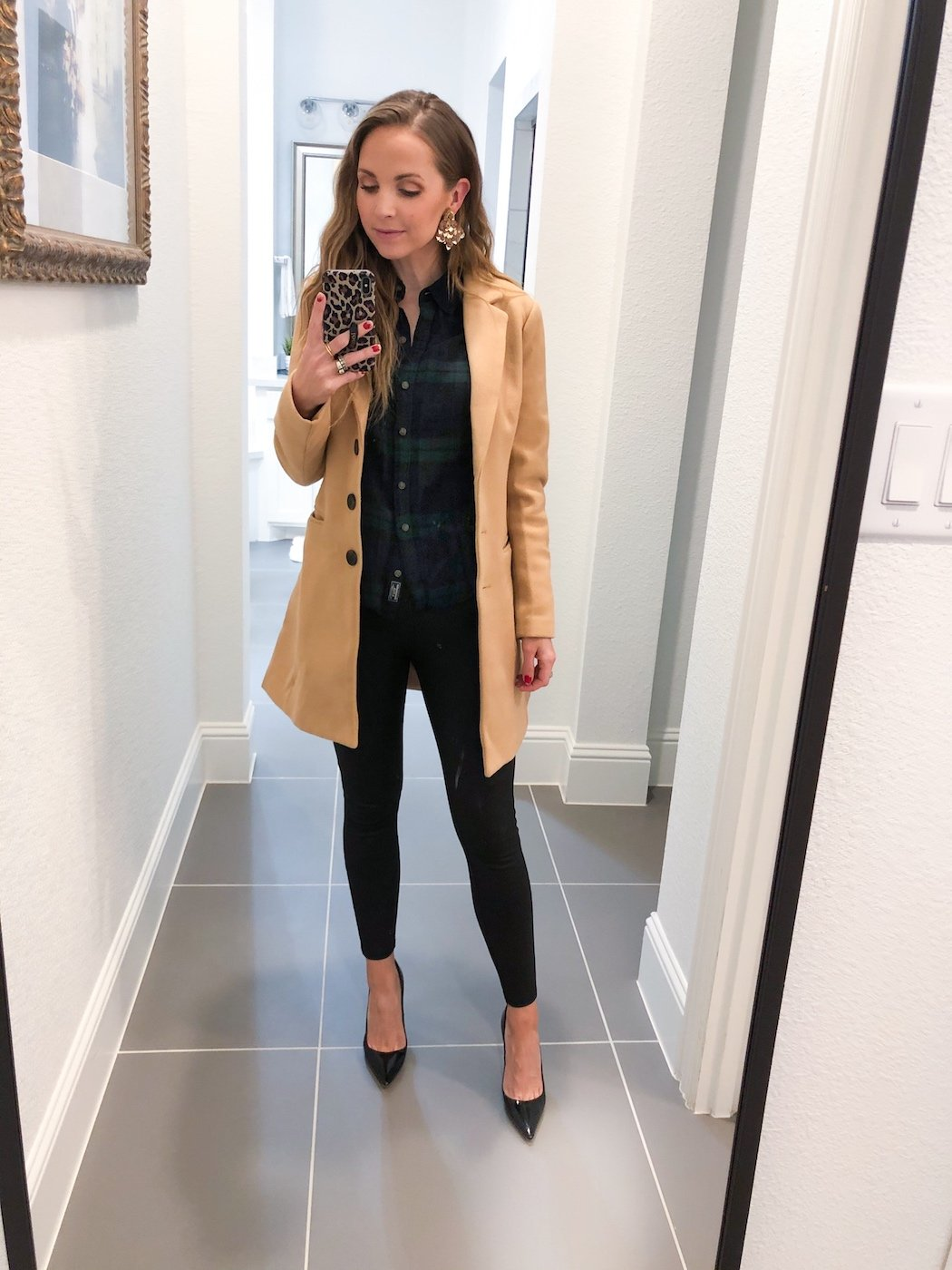 leather leggings with coat