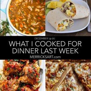 weekly menu, january 4