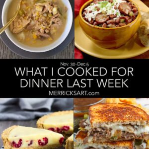 weekly menu December 5th