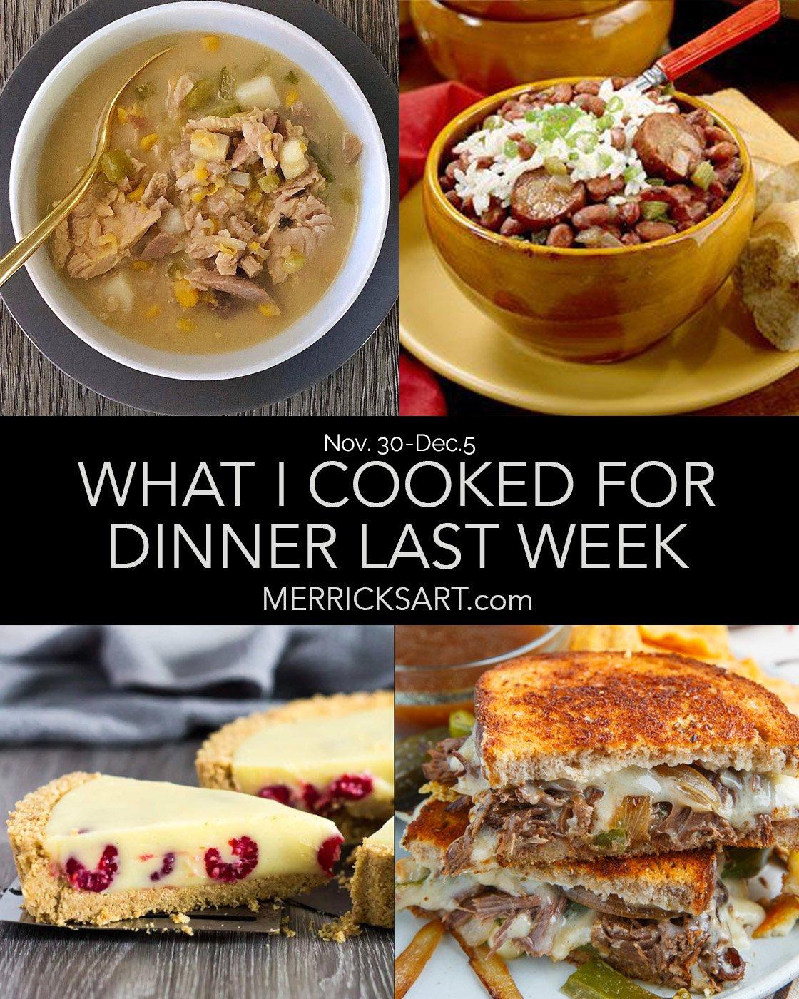 weekly menu December 5th