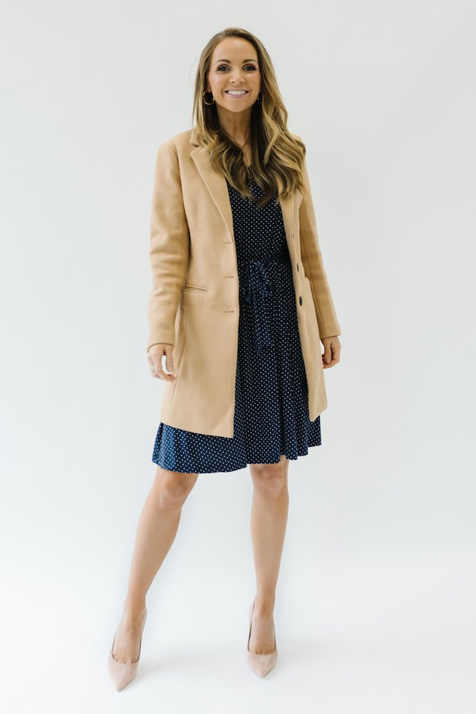 dress coat with Navy MW Collection dress