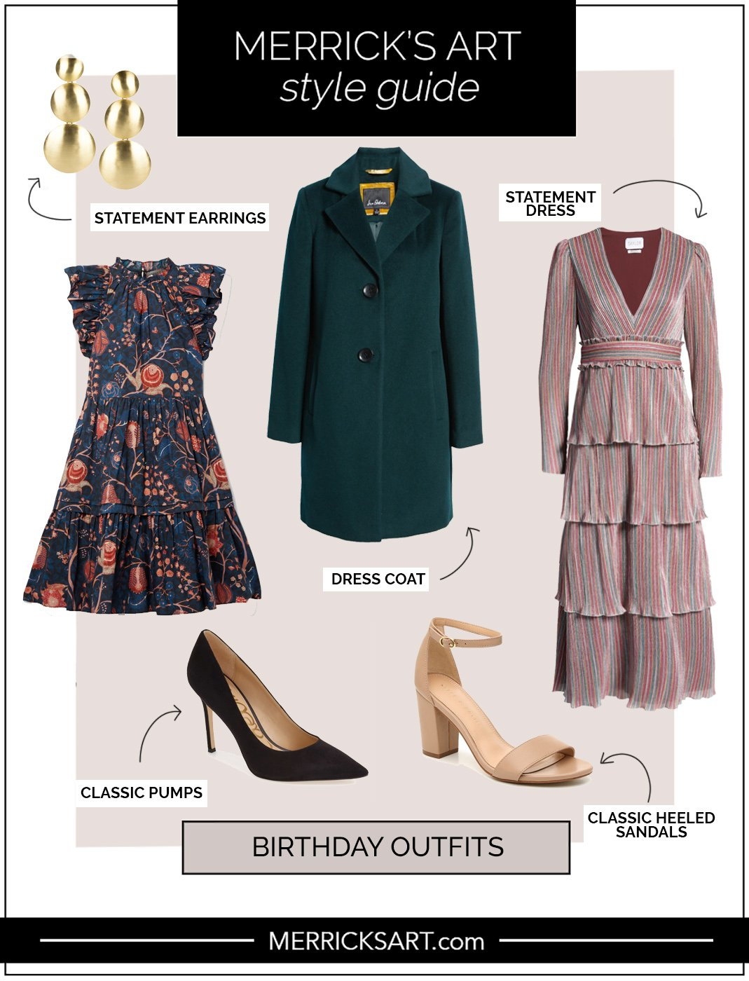 birthday outfit with statement dress