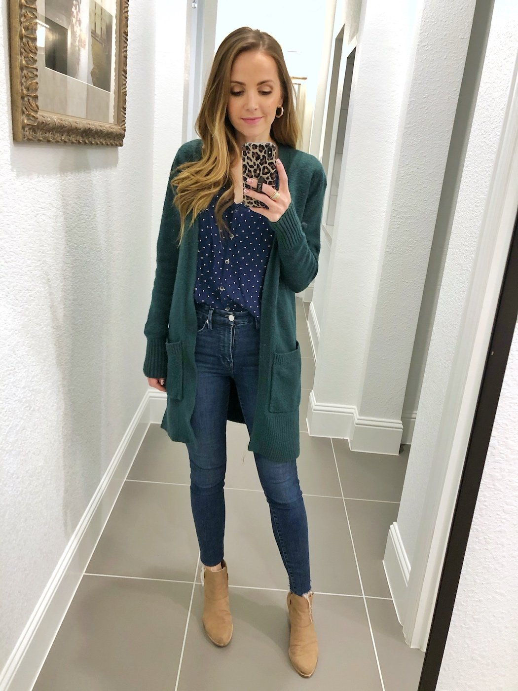 cardigan outfits with jeans and a blouse