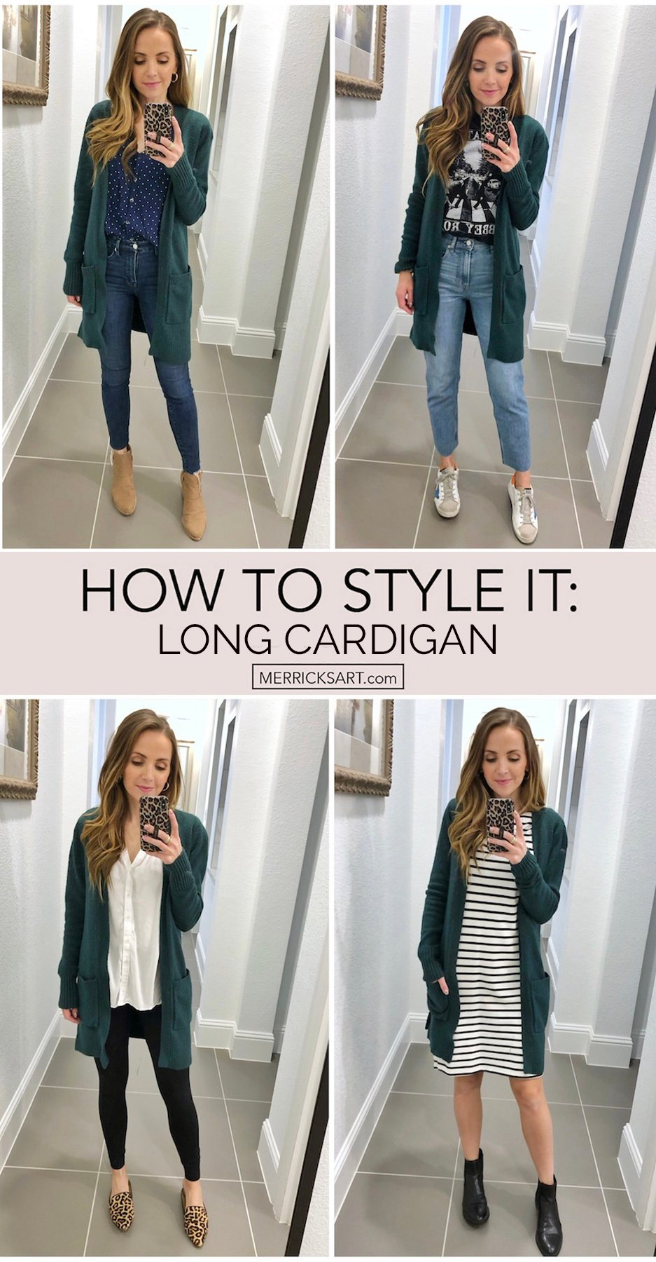how to wear a cardigan