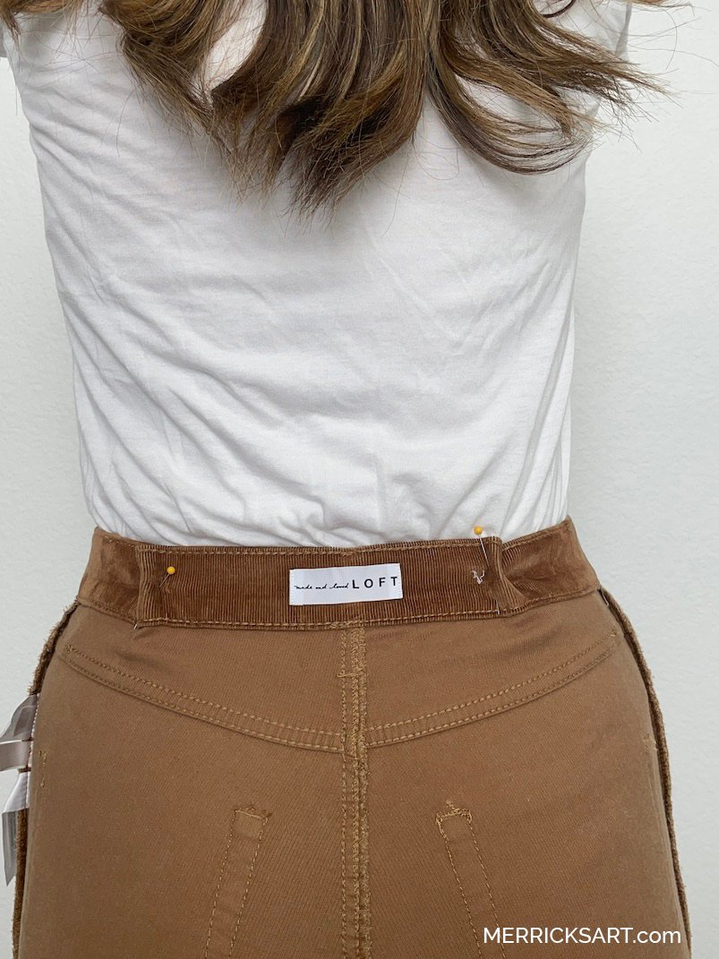 how to fix a gap at the waist