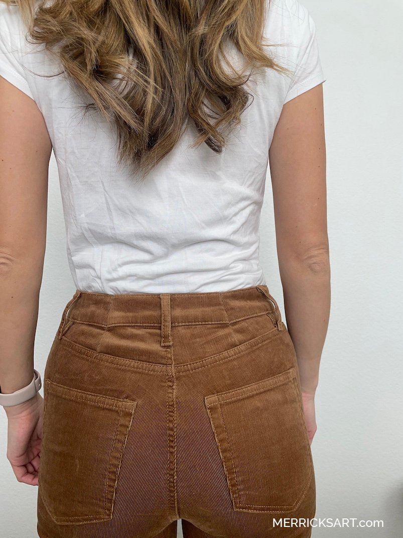how to adjust the waist of your jeans