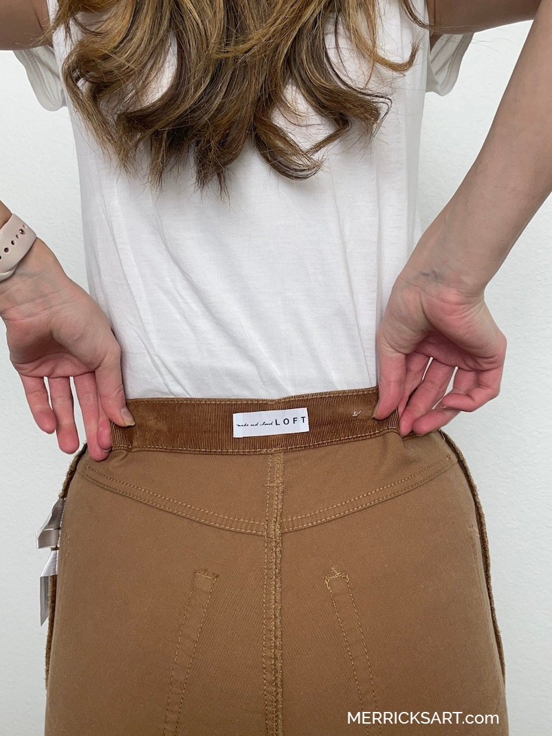how to fix gapping at the waist