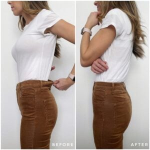 How to resize a waist of jeans