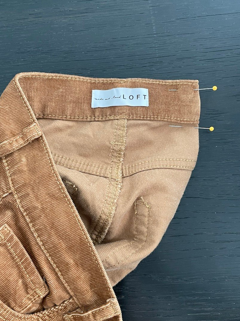 how to fix a gap in your jeans