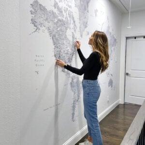 wallpaper mural map