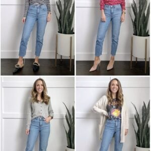 straight leg jeans outfits