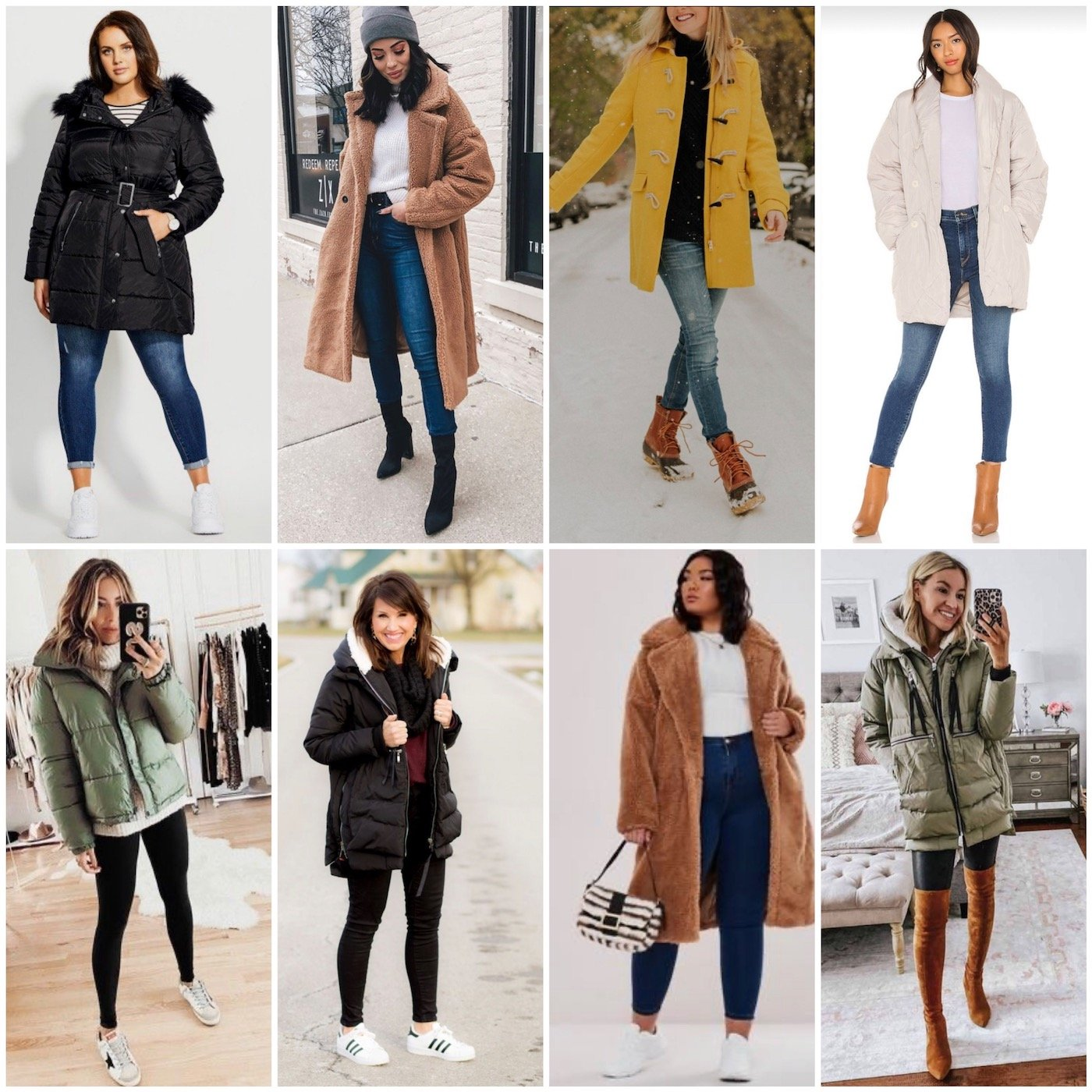 winter coat outfits on other women