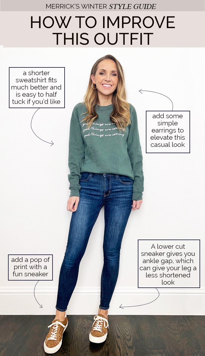 how to improve your sweatshirt outfits