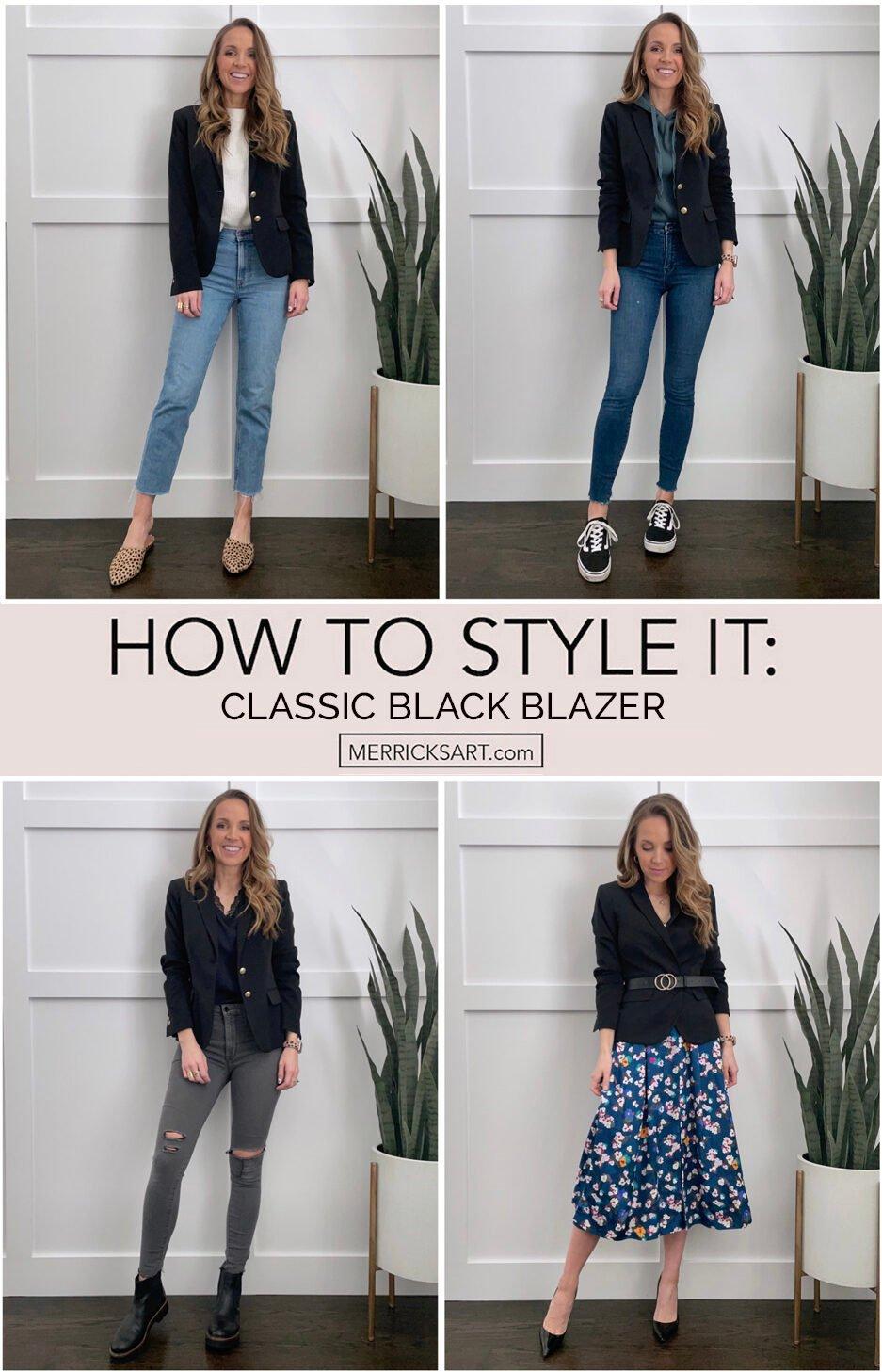 black blazer outfit ideas