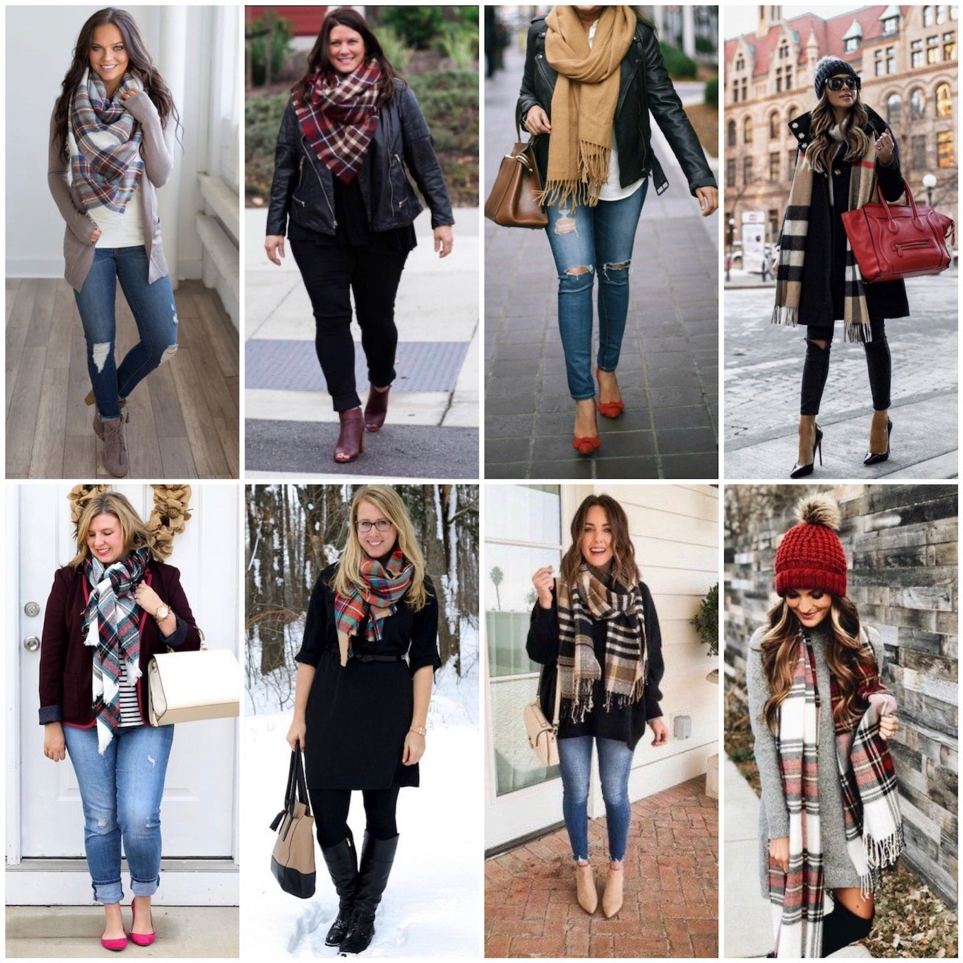how to wear a scarf on other women