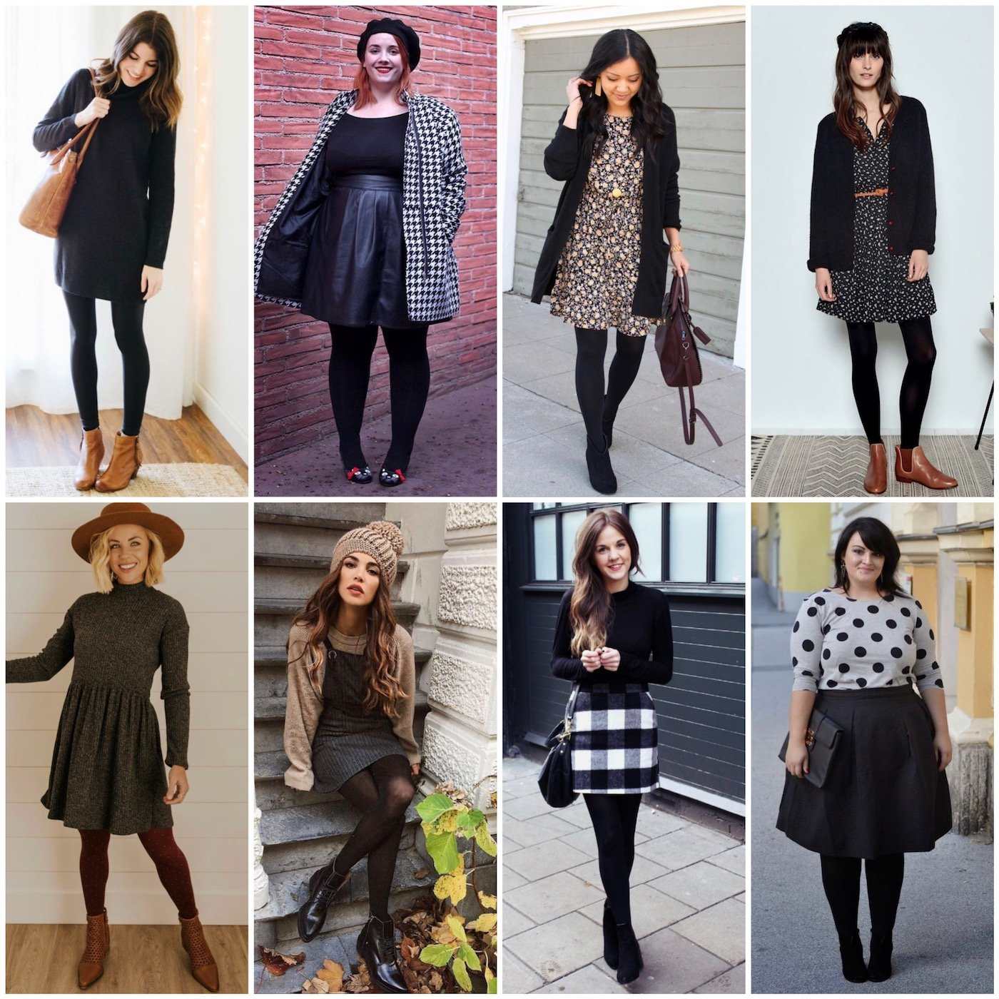 winter dresses on other women