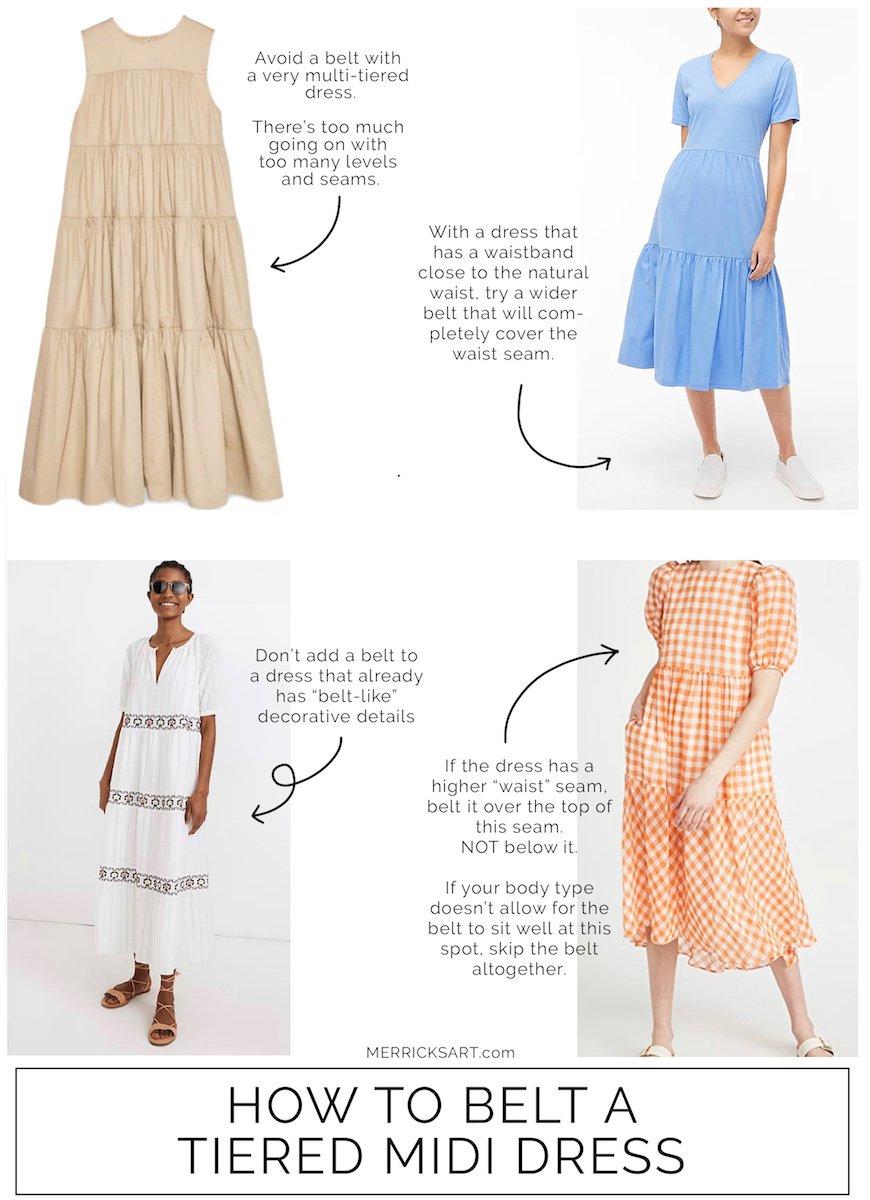 how to belt a midi dress