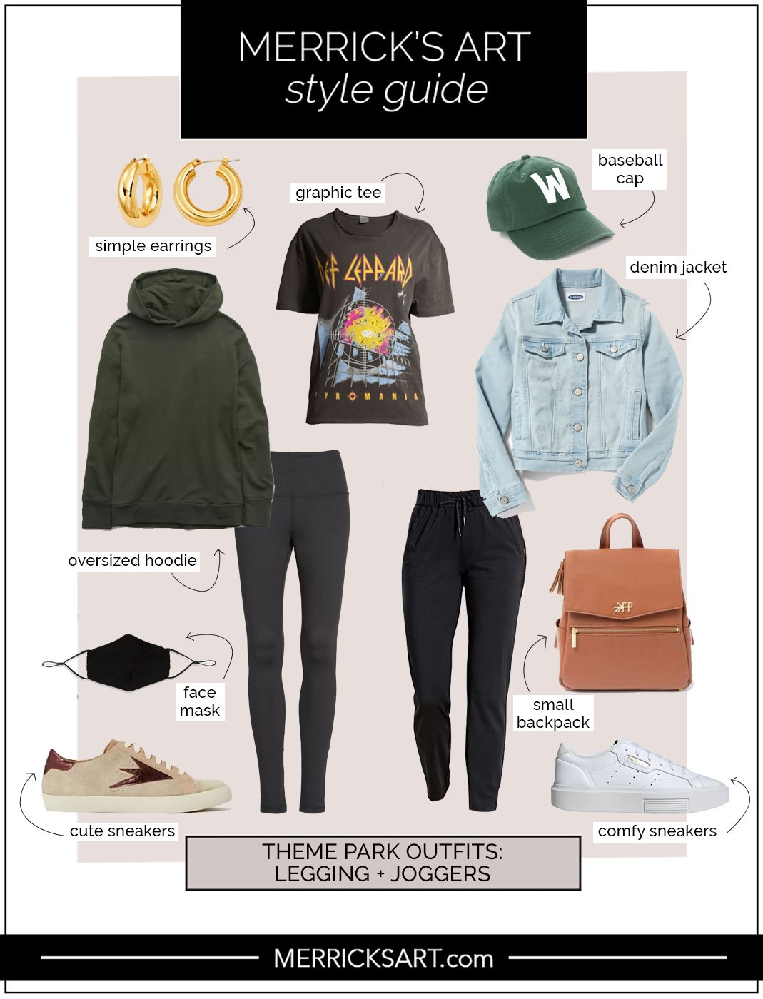 theme park outfits with leggings and joggers