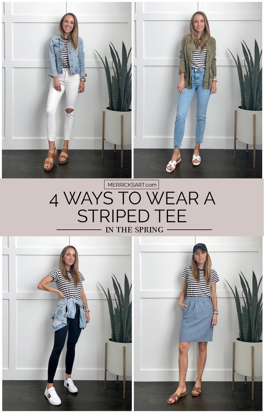 4 ways to wear striped tees