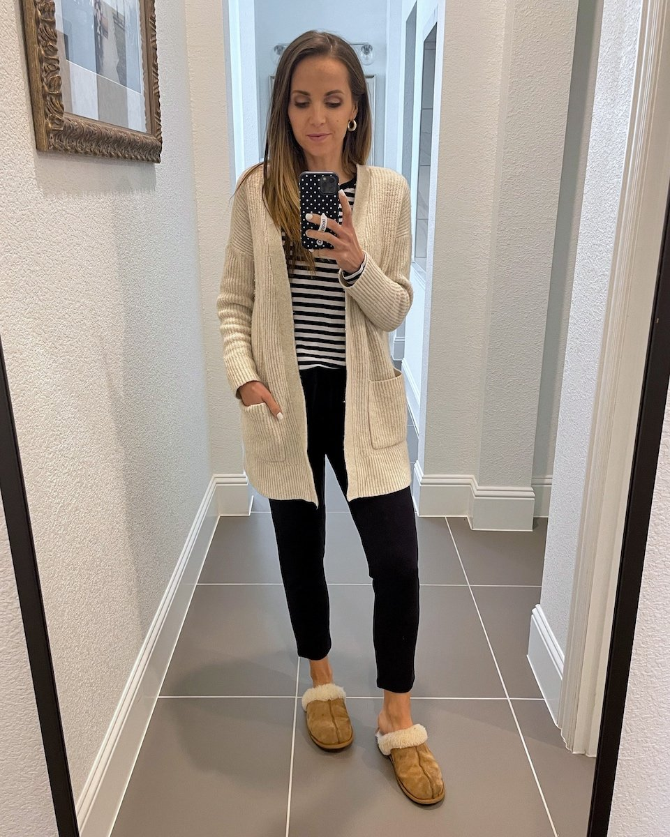 cardigan with slippers