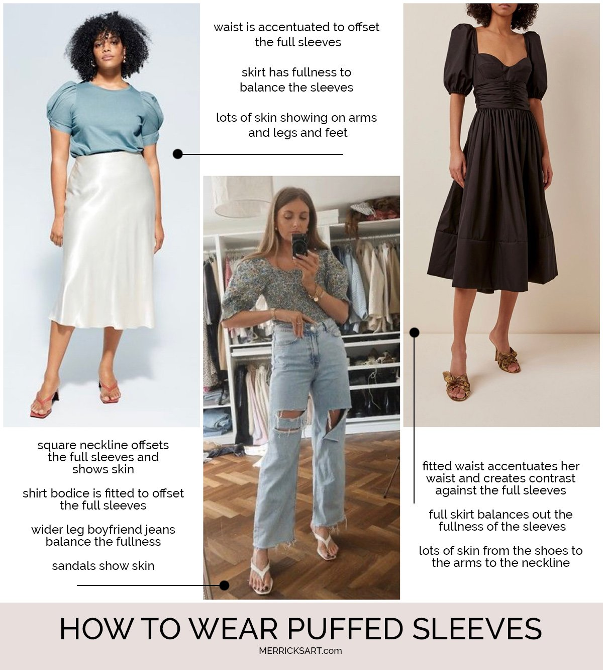 how to wear puffed sleeved tops