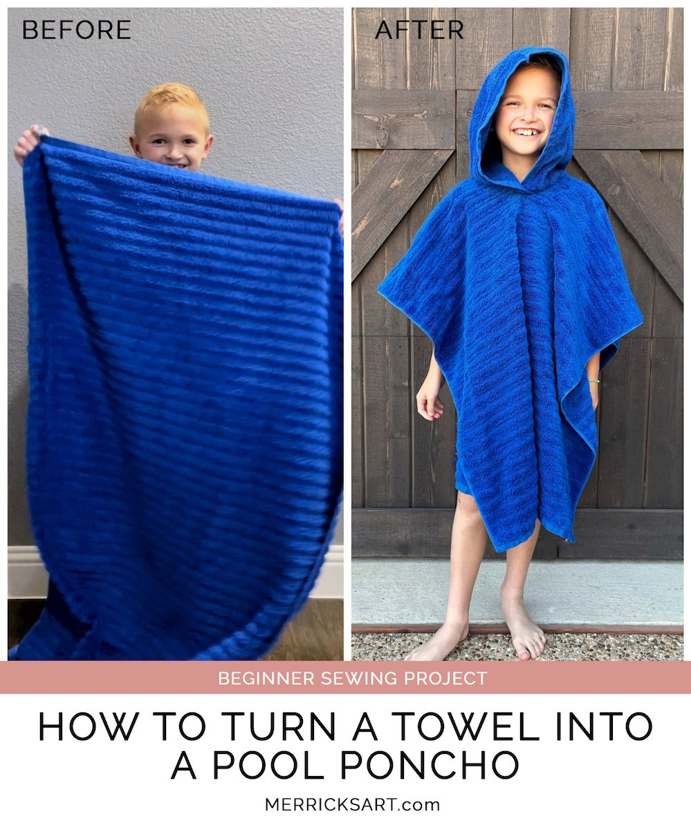 easy towel poncho sewing project