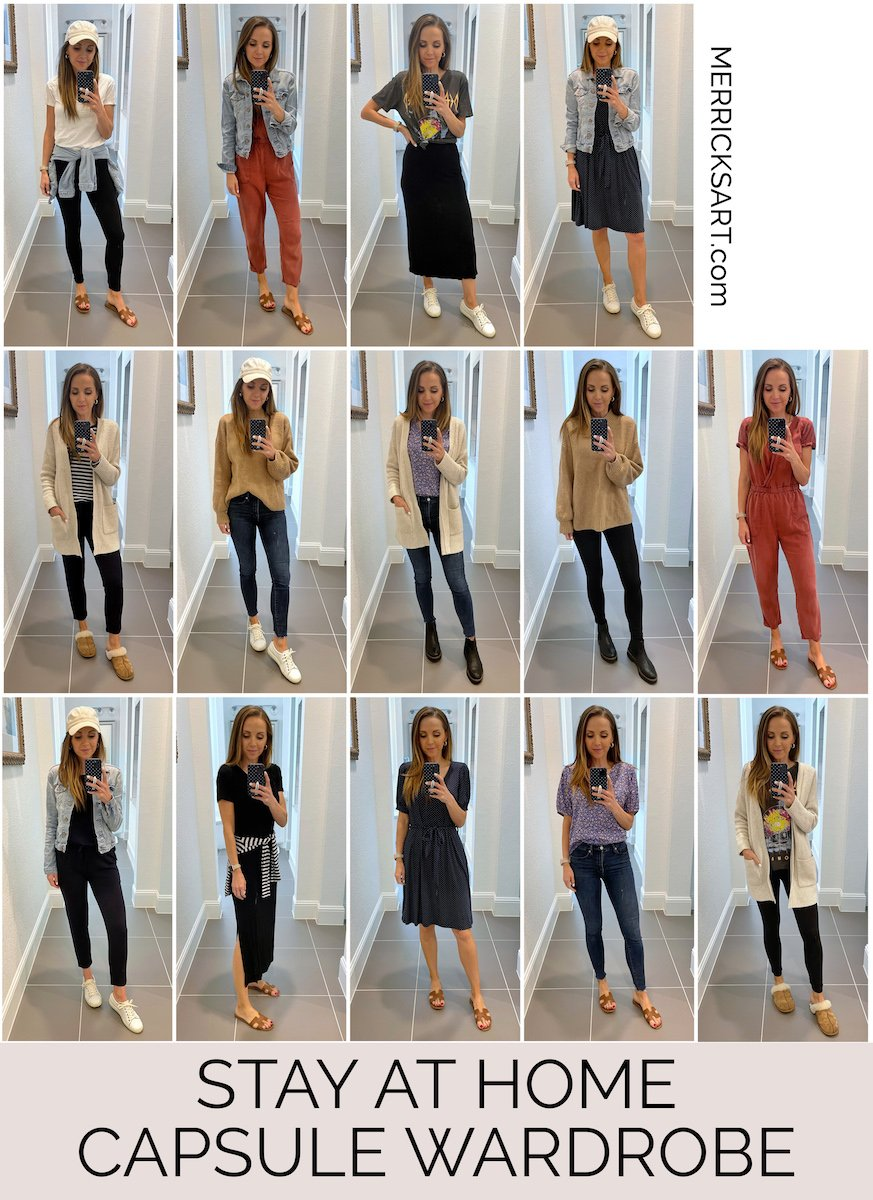 stay at home capsule wardrobe