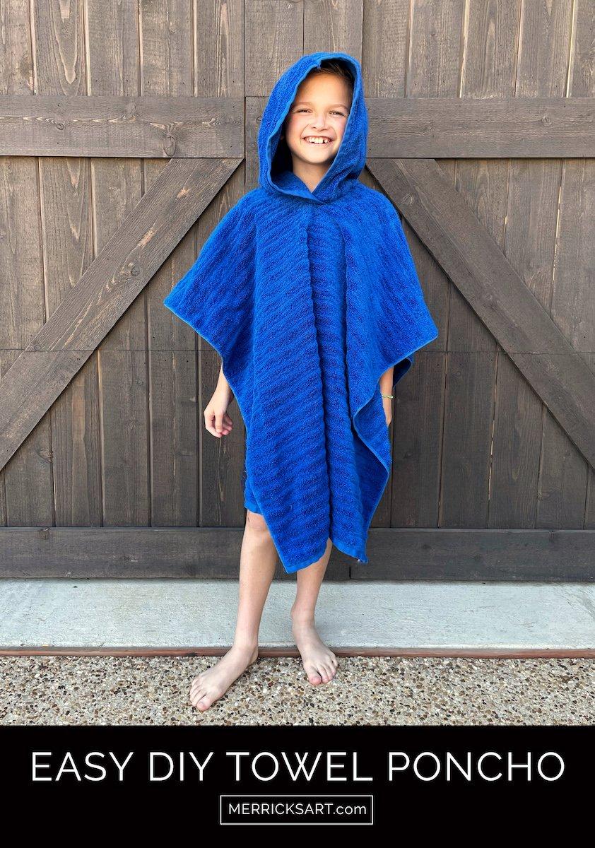 towel poncho sewing tutorial