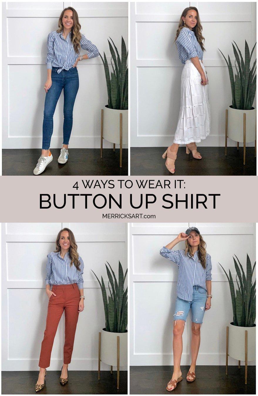 4 ways to wear a button up shirt
