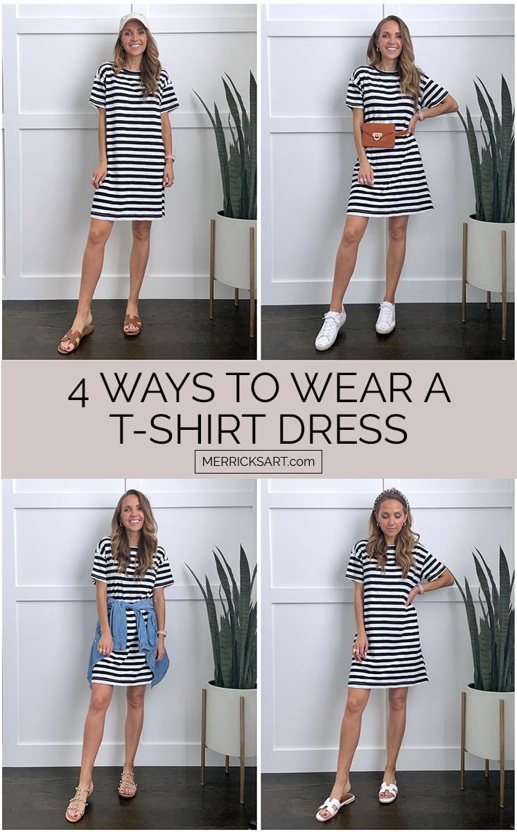 4 ways to wear a t-shirt dress