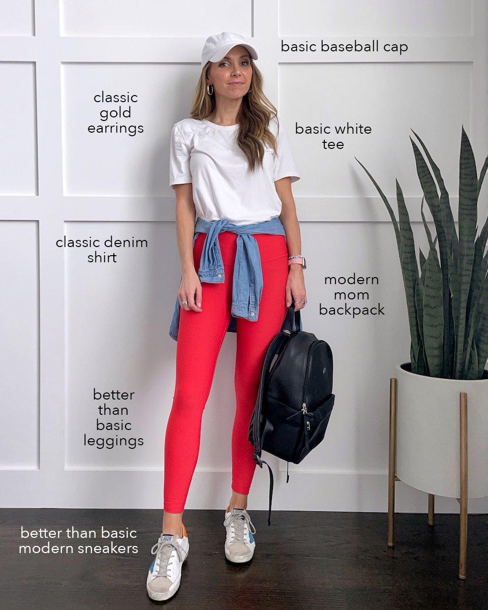 leggings with white tee