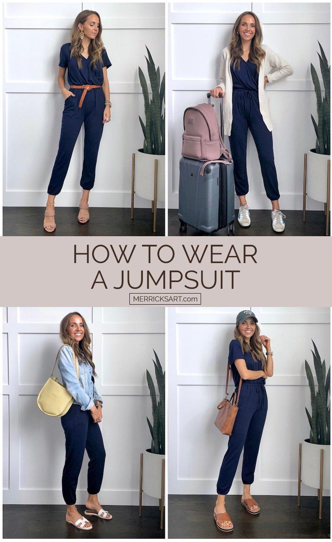 4 ways to wear a jumpsuit