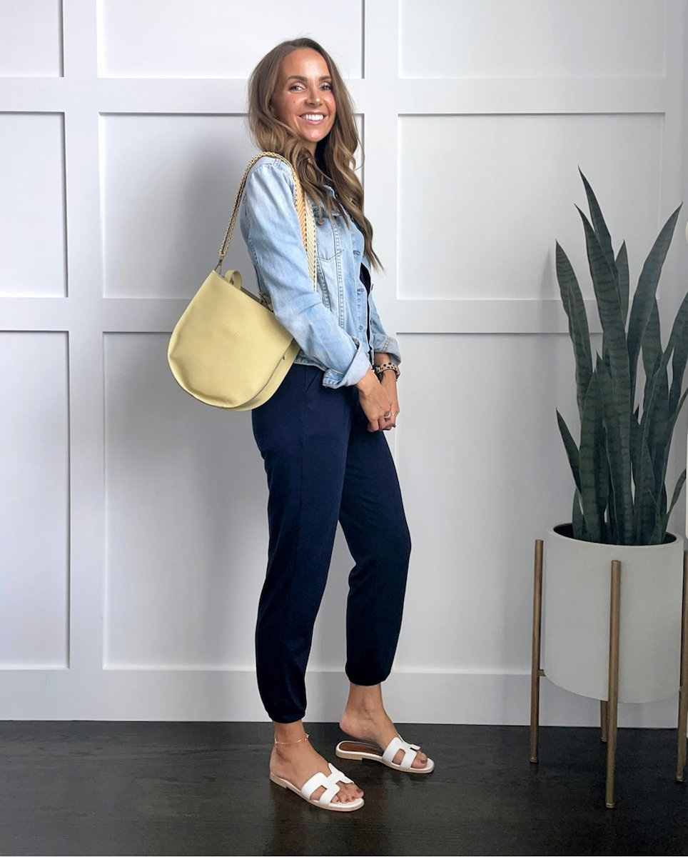 layering with a denim jacket