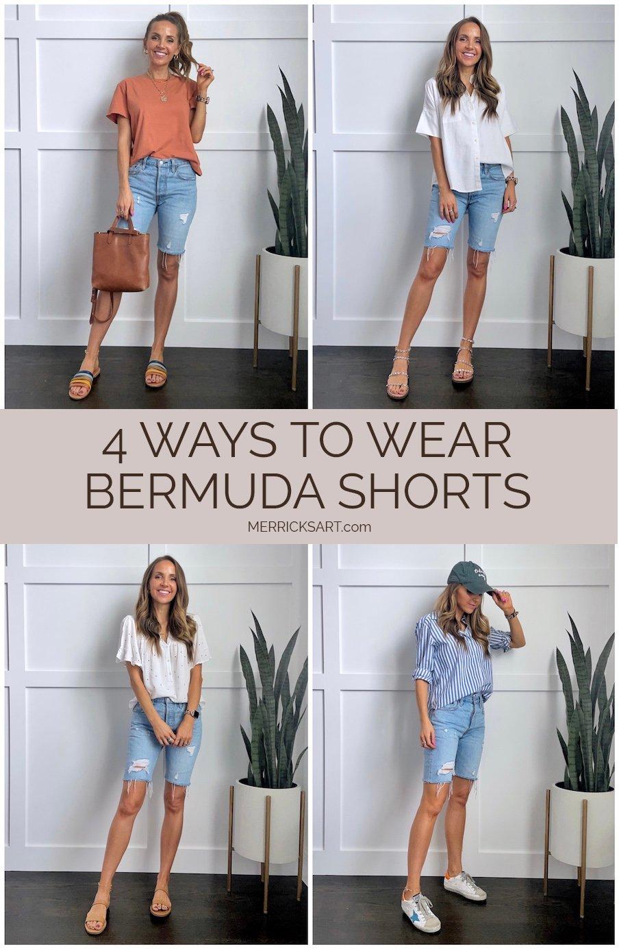 cute bermuda shorts outfits