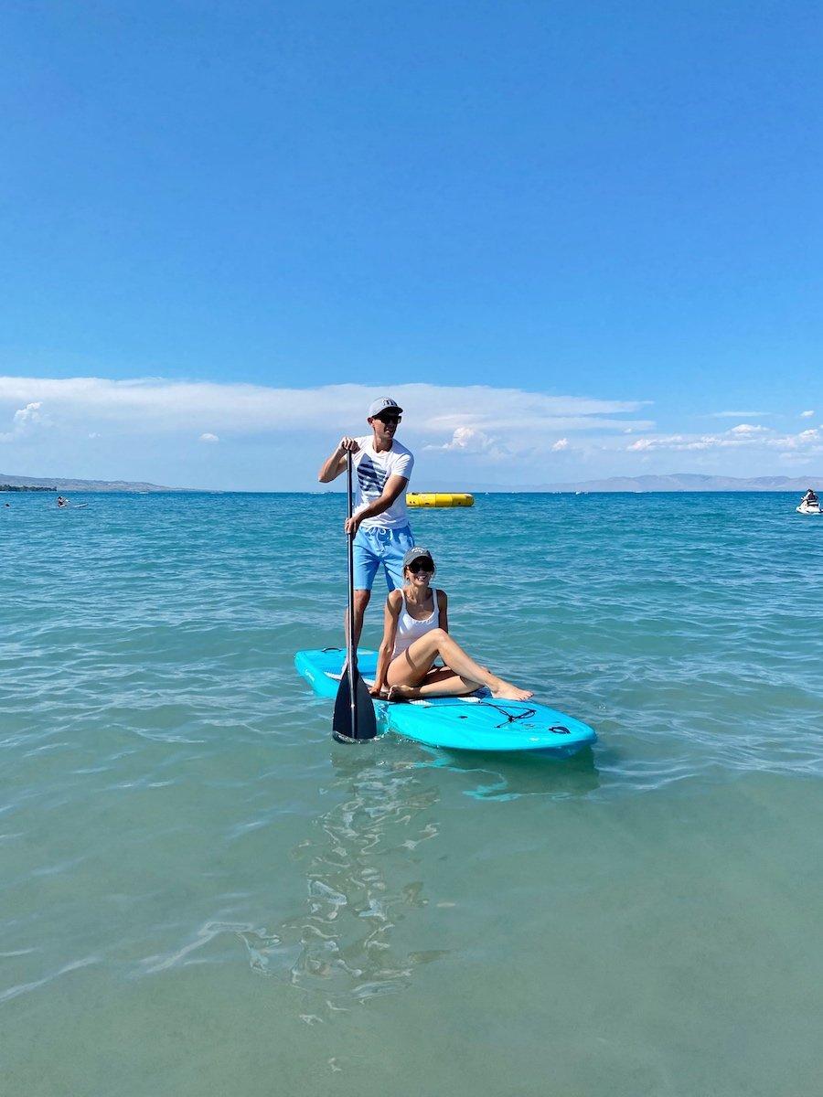 bear lake paddle boarding