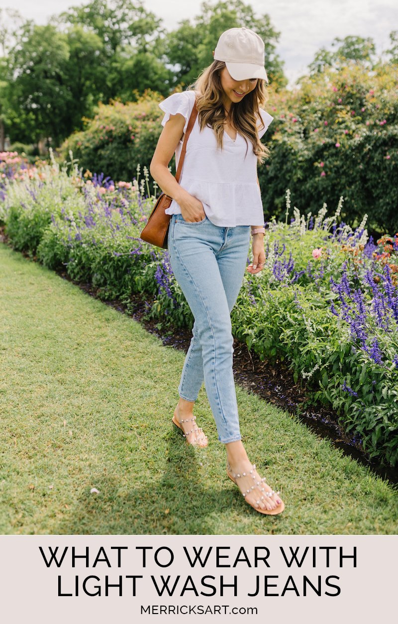light wash jeans outfit
