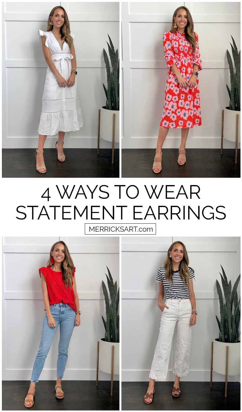 4 ways to wear statement earrings
