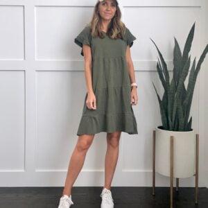 olive green dress from walmart