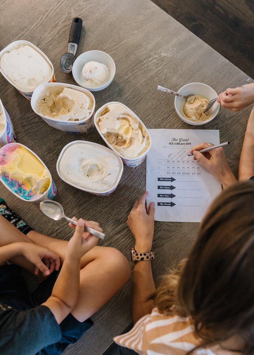 ice cream taste test