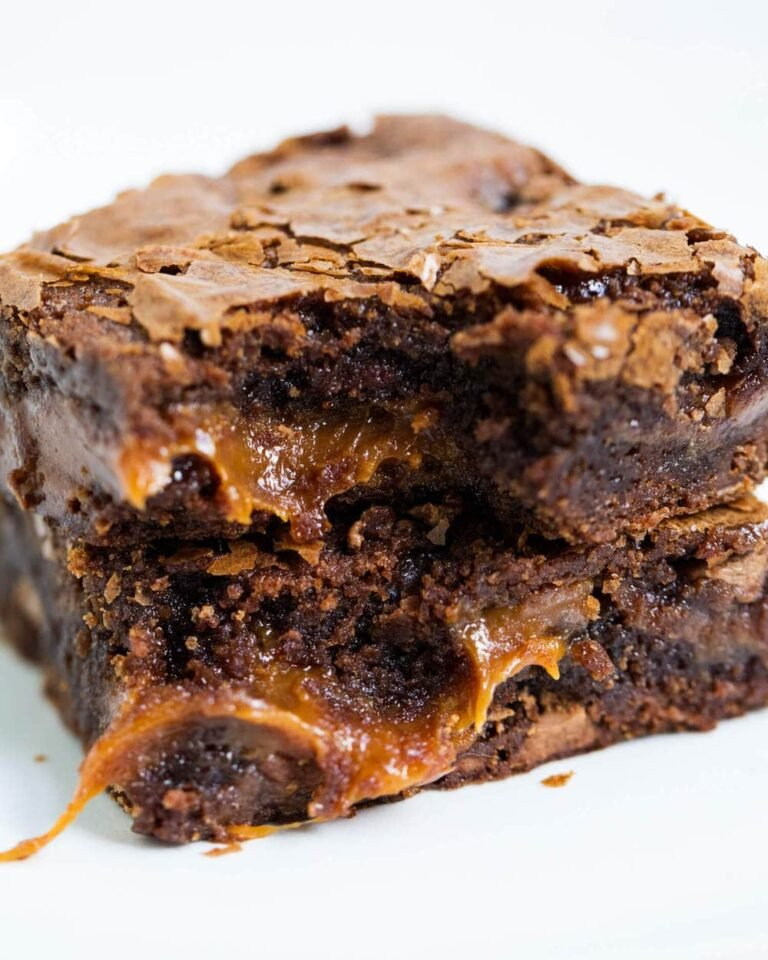 dinner ideas caramel brownies