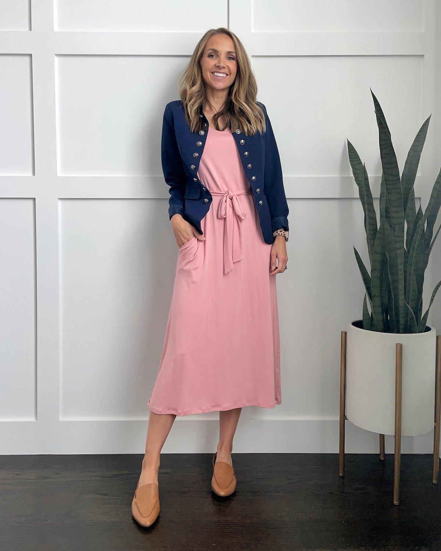 pink-midi-dress-workwear