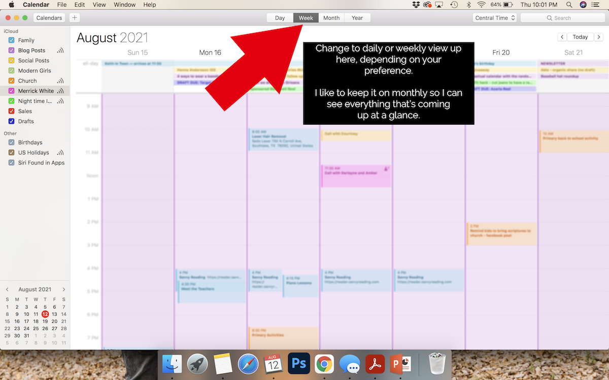 apple calendar tutorial