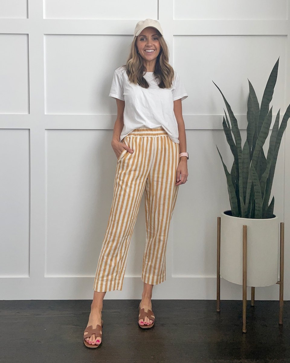how to wear baseball hats with printed pants