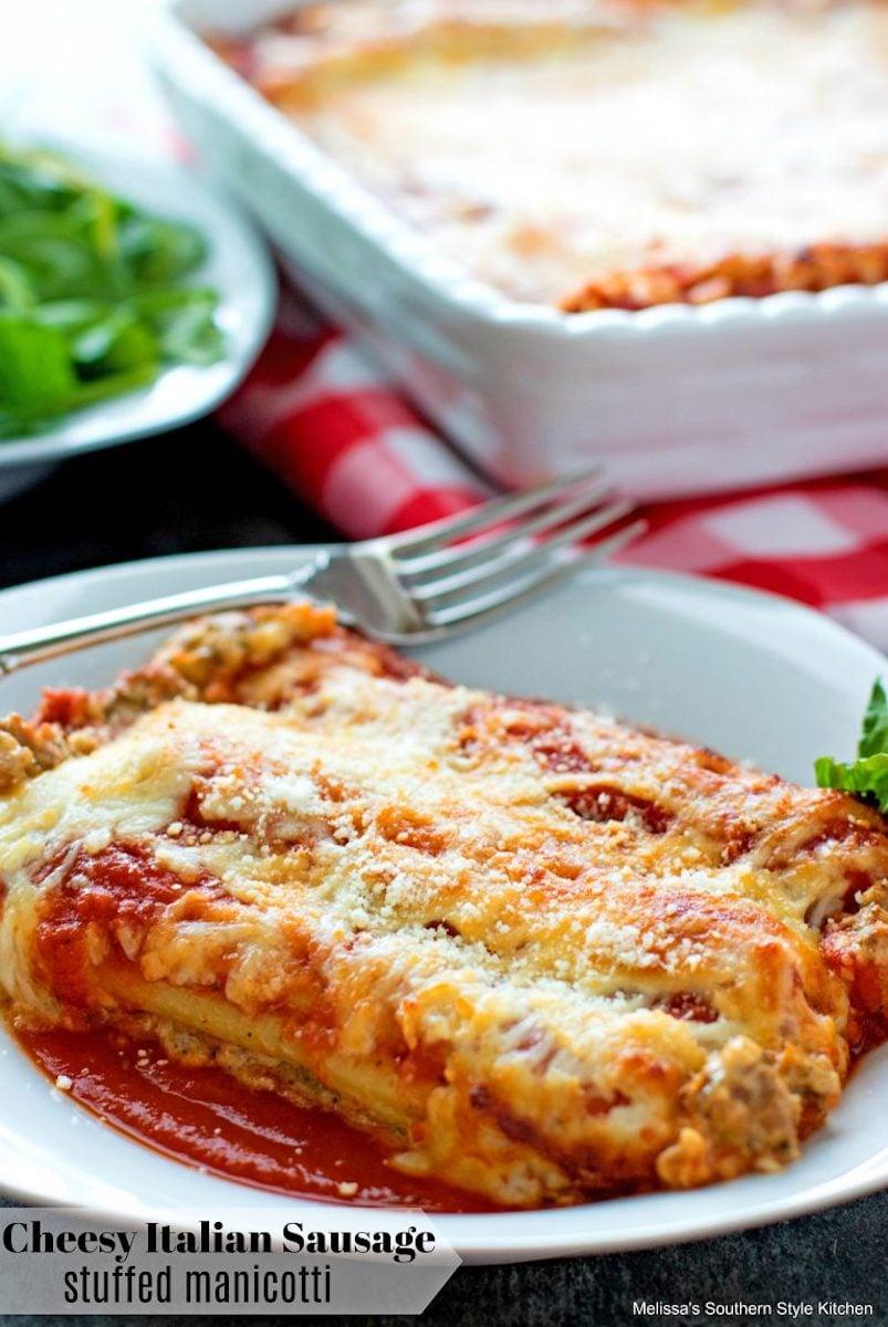 CheesyItalianSausageStuffedManicotti003